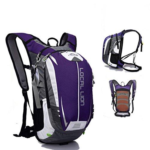 SINCERE@ Outdoor équitation sac à dos d'hydratation sac à dos petits respirants légers sacs sac de sport d'alpinisme (Violet)