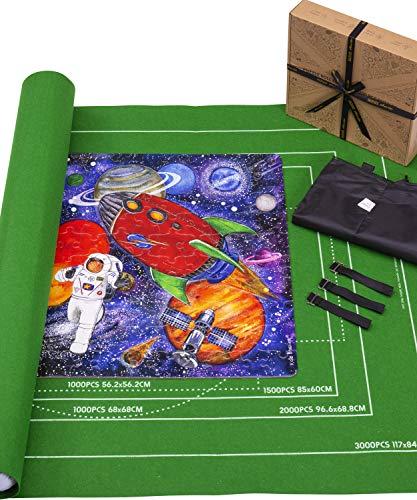Jaques von London - Puzzle Matte für bis zu 3000 Puzzlestücke - Puzzle Matte für Puzzle tolles Rätsel-Zubehör