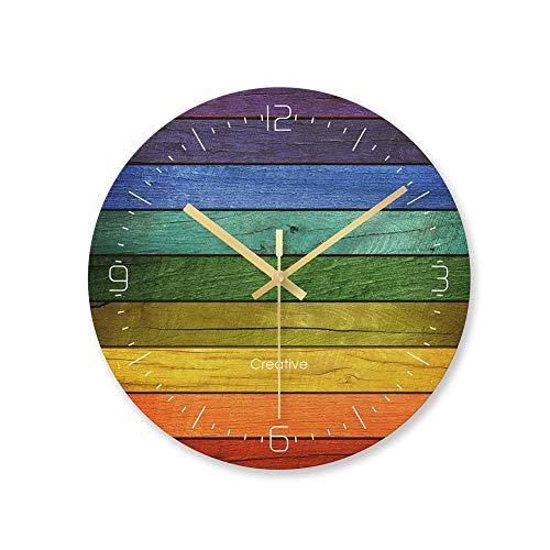 XMBT Relojes de Pared Romano Retro Silent Clock,Reloj de Pared Redondo para el hogar Premier Reloj de Pared Retro Vintage Relojes de Pared con Pilas Relojes en Dormitorio Infantil