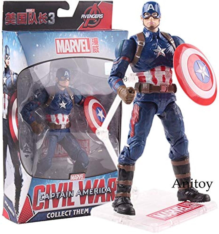 Marvel Captain America 3 Civil War Figure Avengers Hot Toys Captain America Figure Action PVC Collectible Model Toy - Black Panther Action Figure - Spiderman Stuffed Toys