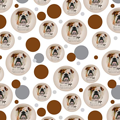 GRAPHICS & MORE Bulldog Dog Breed Premium Gift Wrap Wrapping Paper Roll