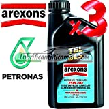 Arexons Petronas TDL API GL5 75w90 Olio Lubrificante Cambi, Differenziali e Trasmissioni Meccaniche 100% Sintetico 3 LT