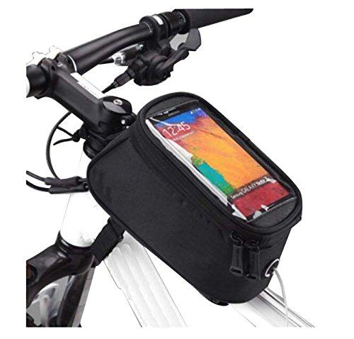 Black Temptation Sac de vélo, Sac de Selle, imperméable à l'eau, Paquet d'écran Tactile, Sac de GPS de téléphone Portable, A3