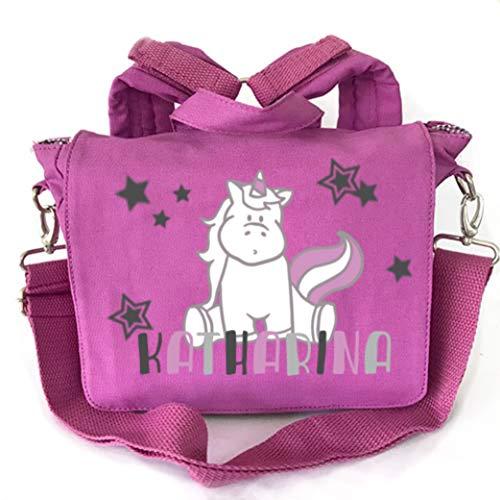 2in1 Kindergartenrucksack mit Namen, Kindergartentasche mit Namen, Kinderrucksack, Rucksack Kinder, Personalisieren und Bedrucken, Einhorn