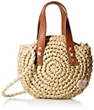 Round straw hand bag Handle detail special size type: Big Girls weave type: Woven