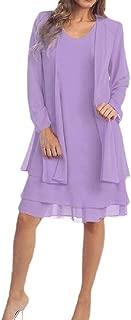 Womens Two Pcs Set Chiffon Jacket Dress Mother Bride Dresses