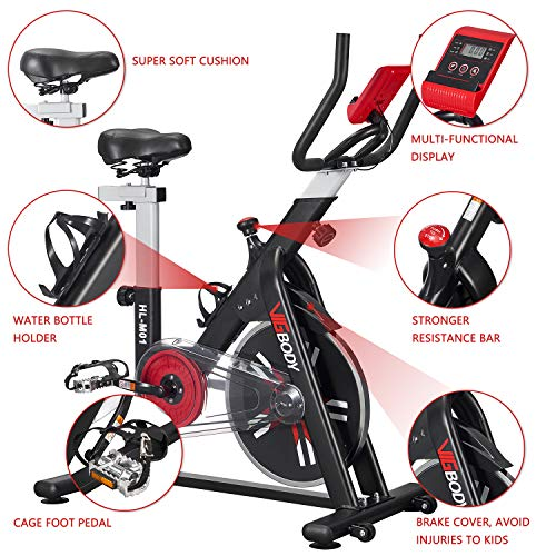 VIGBODY Exercise Bike Stationary Indoor Cycling Bike for Home Gym Workout Upright Belt Drive Bike