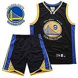 FANS LOVE Ajuste De La NBA Fan Jersey Guerreros Juego Traje Competencia Verde Durant Curry Juego De Los Hombres Camiseta De Secado Rápido De Deporte Black-5-XXXL
