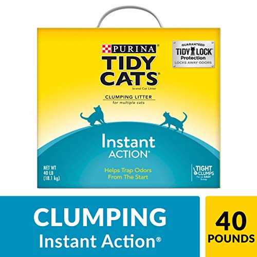 Purina Tidy Cats Clumping Cat Litter, Instant Action Multi Cat Litter - 40 lb. Box
