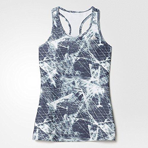 adidas Techfit Solid Camiseta, Mujer, Verde (Vervap/Azuuti), M