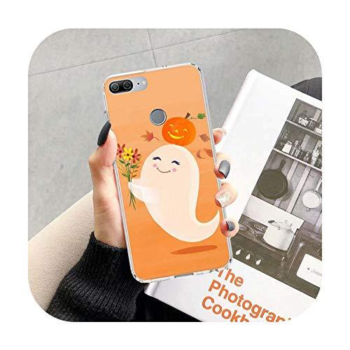 Calabaza feliz otoño vacaciones caso para Huawei Honor 10 9 20 Lite 9X 8X 8A Pro 7A 7X Y5 Y6 Y7 Y9 2019 V20 V30 Soft Phone Cover Coque-TR434-7-Honor V30