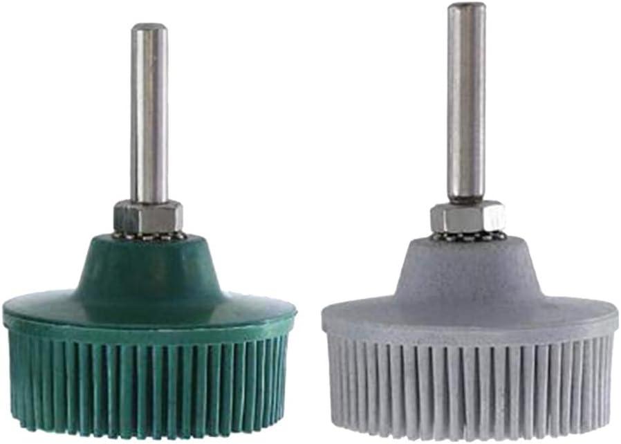 joyMerit 2 OFFicial shop PCS Max 49% OFF 50mm Rubber can Deburring Wheels Brush Polishing