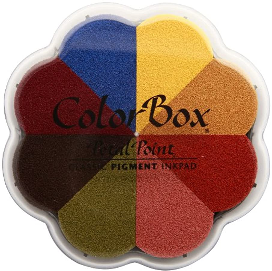 CLEARSNAP 080000-08013 ColorBox Pigment Petal Point Option Inkpad 8 Colors, Provence