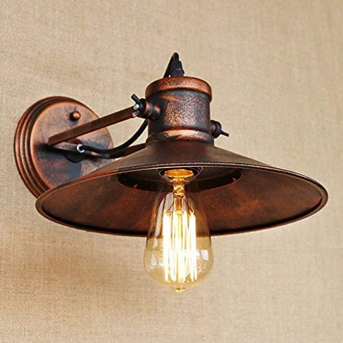 GLXLSBZ Accesorio de iluminación de Pared Linterna de Pared Retro Americana Sala de Estar rústica Balcón Escalera rústica Dormitorio Lámpara de Noche Forjado IRO (Iluminación del hogar)