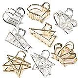 WYNIE 8 Pinzas para el Pelo Metálicas Geométricas para Mujer Horquillas de Metal Pequeñas Accesorios para el Cabello