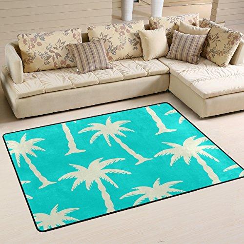 Ingbags Noix de coco arbres Salon salle à manger Zone Rugs 3 x 2 pieds Chambre Rugs Bureau Tapis moderne Tapis de sol Tapis Home Decor, multicolore, 6 x 4 Feet