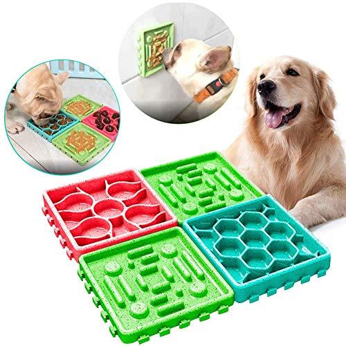 Elezenioc Hundespielzeug für langsame Fütterung für Welpen, Leckerli-Spender, Puzzle-Futterspender für langsames Füttern, interaktiver Futternapf für Hunde mit rutschfestem Futternapf