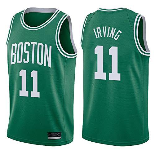 XSJY Hombres Jersey - NBA Boston Celtics 11# Kyrie Irving Bordado Sin Mangas De Malla De Secado Rápido Baloncesto Swingman Jersey Deporte Chaleco De La Tapa,C,L:175~180cm/75~85kg