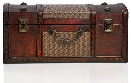BRYNNBERG houten kist Dublin schatkist in vintage-look antiek design maten: 37x17x17cm