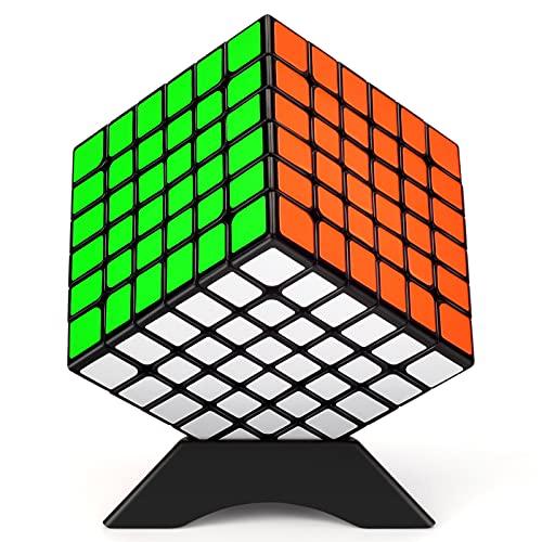 TOYESS Cubo Mágico 6x6, Speed Cube Paquete de Regalo de Juguete de Rompecabezas para Niños y Adultos, Negro