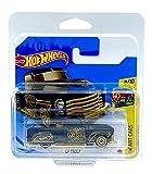 Hot Wheels La Troca (negro/dorado) 8/10 HW Art Cars 2021 - 146/250 (tarjeta corta) GRY35 *** Viene en una funda protectora para guardarropa de coche KLAS ***