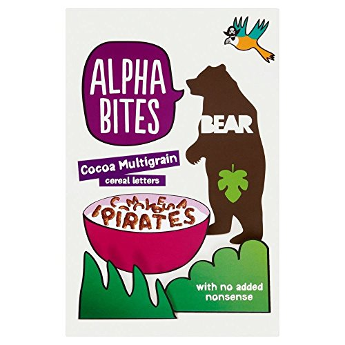 Bear Alpha Bites Cocoa Multigrain Cereal Letters