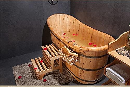 """Bañera japonesa de madera """"ofuro"""" Zen."""