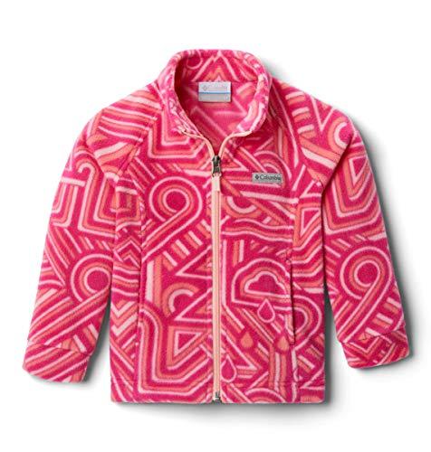 Columbia Kids' Little Benton Springs Ii Printed Fleece Jacket, Cactus Pink Geo Elements, XX Small