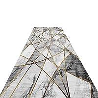 廊下敷きカーペット 灰色の現代の抽象的なエリアラグズカーペット、廊下ランナー敷物1m / 2m / 3m / 4m / 5m / 6m / 7mの長さ、滑り止めゴム裏打ち (Size : 120x100cm)