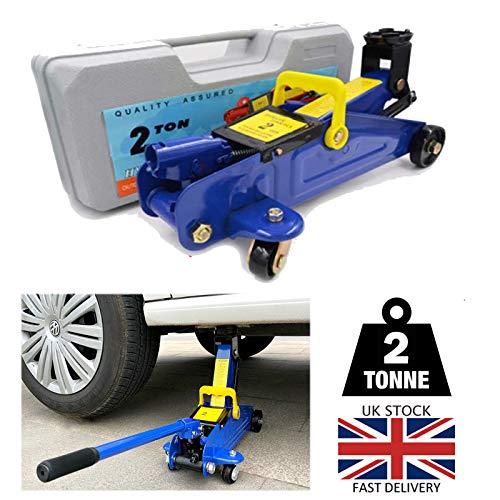 2 Tons Hydraulic Floor Jack Heavy Duty Steel Trolley Profile Lifting...