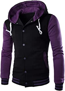 OVERMAL Men Coat Jacket Outwear Sweater Winter Slim Hoodie Warm Hooded Sweatshirt