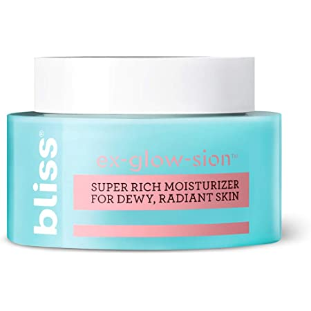 bliss Ex-glow-sion Super Rich Face Moisturizer for Dewy, Radiant Skin | Advanced Shea Butter Nourishes & Hydrates | 100% Vegan and Cruelty-Free | 1.7 fl oz