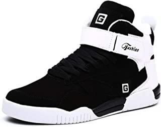 d9b43fa172 MUOU Baskets Mode Sneaker Chaussures Hommes Chaussures Décontractées  Chaussures à Bretelles Haut-Blanc Chaussures Plates