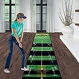 KOSIEJINN Alfombras de Putting para Golf 0,5 x 3 m Colchoneta de Entrenamiento De Golf Interior para Alineación y Entrenamiento a Distancia Alfombra De Golf para Uso En El Hogar y Al Aire Libre