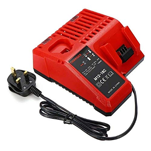 JANRI Replacement M12-18C Li-ion Battery 12V-18V Fast Charger for Milwaukee M12 M14 M18 48-59-1812 48-11-2420 48-11-2440 48-11-1820 48-11-1840 48-11-1850 48-11-2401 48-11-1890