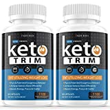 (2 Pack   1100 MG) Keto Trim Pills 800 Shark Tank, Trim Fast Keto Pill Weight Loss Diet for Energy, Focus - Exogenous Ketones for Rapid Ketosis - Ketogenic BHB for Men Women (120 Capsules)