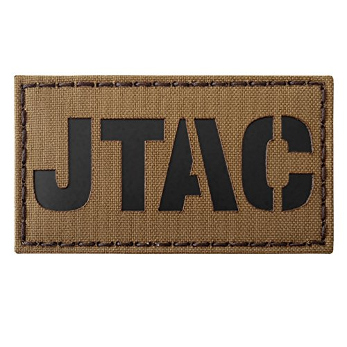 Coyote Brown Tan JTAC Joint Terminal Attack Controller Air Support FAC Infrared IR 3.5x2 Tactical Fastener Patch