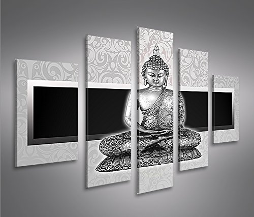 islandburner Zen Buddha 5 Cuadro sobre Lienzo Cuadros Modernos y listos para Colgar. Cuadro Impresión fotográfica artística Obra de Arte