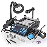 X-Tronic's • Cutting Edge in Technology • Model 5040-XR3 All-In-One Hot Air Rework & Soldering Iron Station with Preheater. Now Includes Plug & Play Hot Air Gun With Iron Holder & Sponge Cleaner