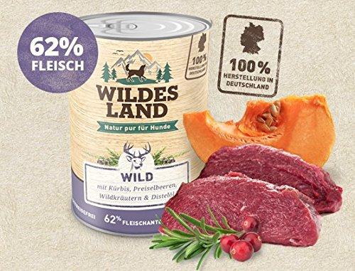 Wildes Land Hundefutter Nassfutter Wild 400g (18 x 400g)