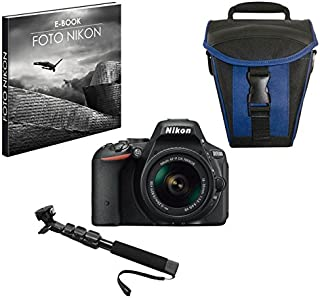 Nikon 999D5500PR1 24.2 MP Reflex Digital Camera with Case and Selfie Stick Included Black