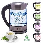 Babynahrung Wasserkocher mit Temperatureinstellung BeLeaf 1,7 L aus Edelstahl BPA free