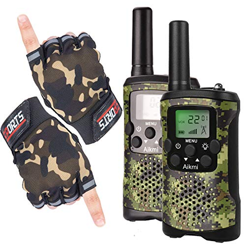 Aikmi Kids Walkie Talkies Boy Toys - Gifts for Children Over 4 years old 22 Channel 2 Way Radio 3 KM Long Range Fit Outdoor Adventure Game Camp Hunt Trip Girls Boys Birthday Gifts Toys aged 5-13