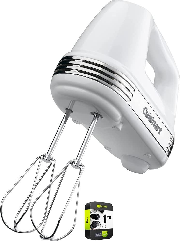 Cuisinart HM-50 Power Advantage Max 57% OFF 5-Speed Bundle Hand New color White Mixer