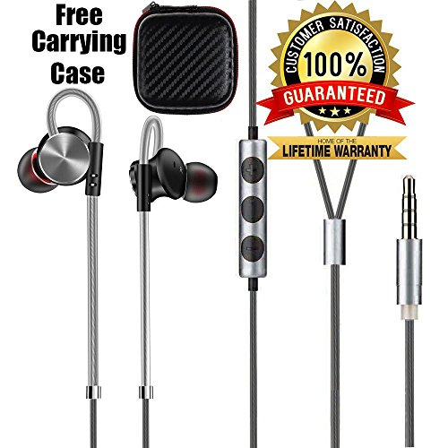 LTI-DIRECT Premium Quality Headphones Earphones for iPhone X 8 8 Plus 7 7 Plus 6 6S Plus, Samsung Galaxy S6 S7 S8 Note 4 5 6 7 Note 8 LG V10 V20 V30 G5 G6, HTC (Black)