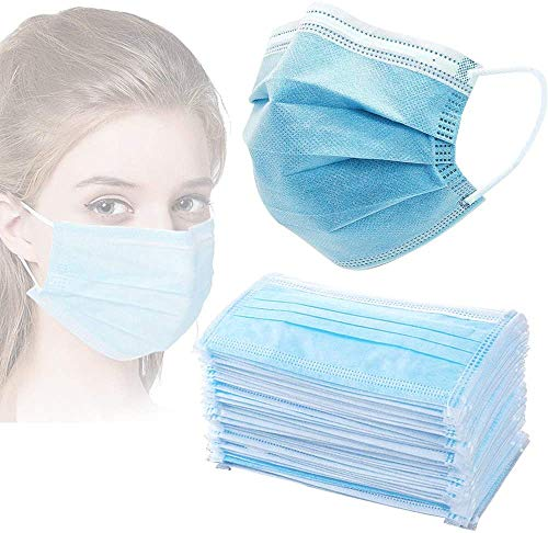 ZHY Anti-Spitting Protective Masks Dustproof Cover, Disposable 100 PCS Filter 3-ply Face Masks Personal Protection dust-Proof Anti Spittle No Eye Masks for Earloop,Prevent Saliva Safety Face Shields