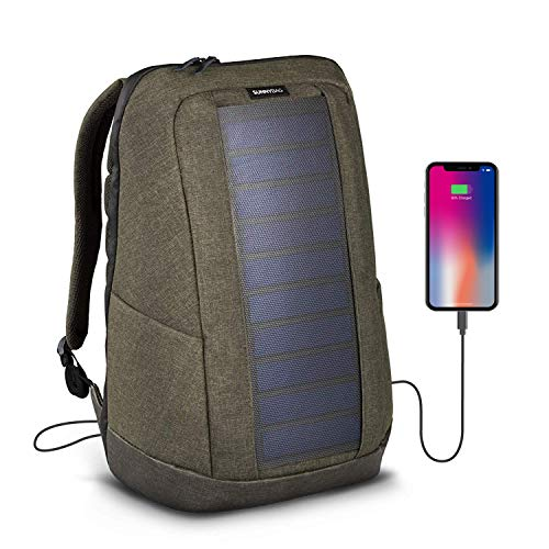 Sunnybag ICONIC solar backpack in cool gray