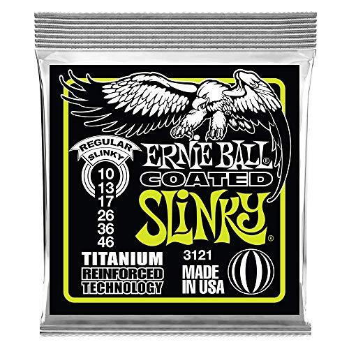 Ernie Ball Regular Slinky Coated Titanium RPS Cuerdas de guitarra eléctrica -...