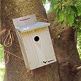 【野鳥用巣箱 完成品】すぐ取り付けできます!バードハウスB(上ふたタイプ)親子体験、夏休みの自由研究、PTA活動に!
