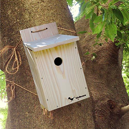 【野鳥用巣箱 完成品】すぐ取り付けできます!バードハウスB(上ふたタイプ)親子体験、夏休みの自由研究、...